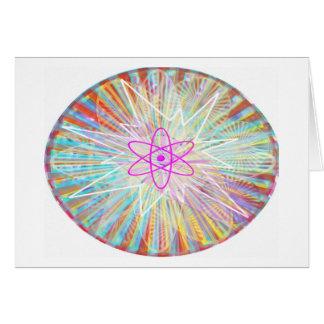 Poder del alma: Diseño artístico de energía solar Tarjeta De Felicitación