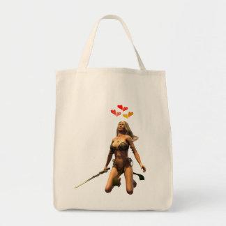 poder del amor bolsa tela para la compra