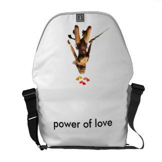 poder del amor bolsas de mensajería