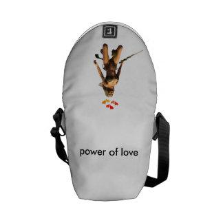poder del amor bolsas messenger