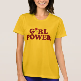 Poder del chica camiseta
