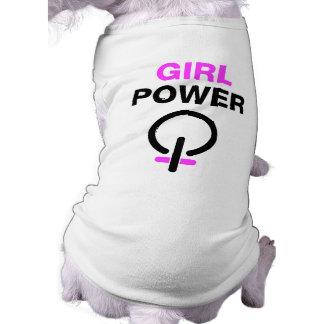 Poder del chica camiseta sin mangas para perro