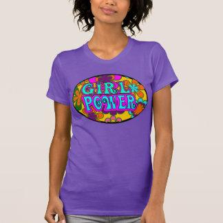 poder del chica, flores camiseta