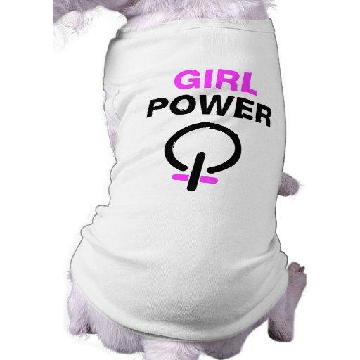 Poder del chica camisas de mascota