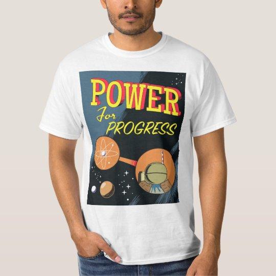 Poder para el poster atómico del vintage del camiseta