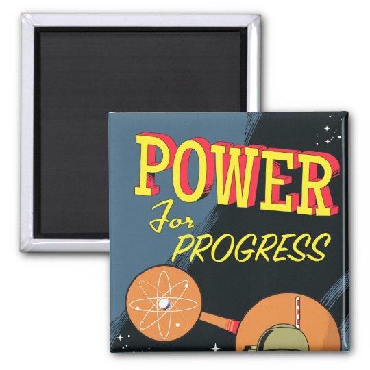 Poder para el poster atómico del vintage del imán