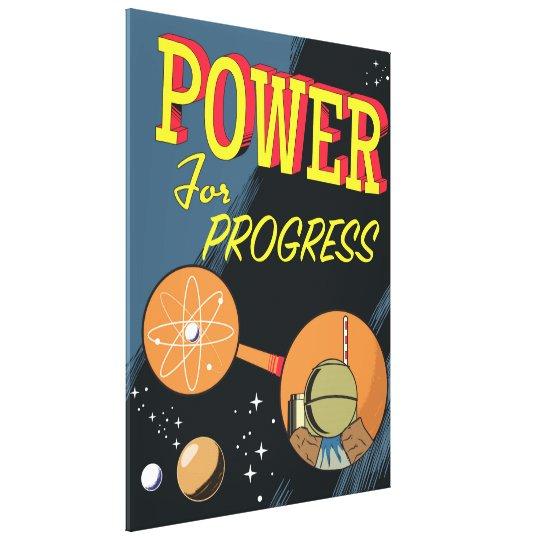 Poder para el poster atómico del vintage del lienzo