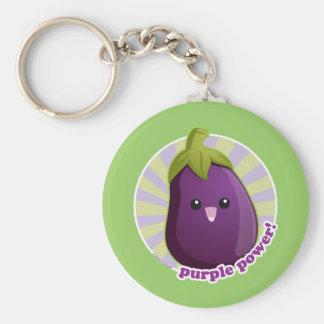 ¡Poder púrpura Llaveros Personalizados