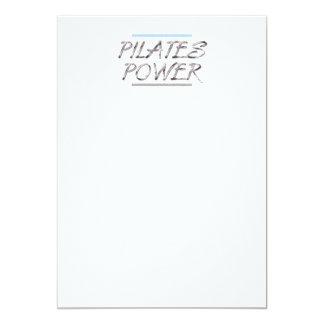 Poder SUPERIOR de Pilates Invitación 12,7 X 17,8 Cm