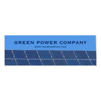 poder verde - los paneles solares tarjetas de visita mini