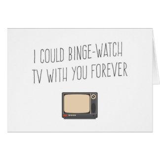 Podría ir de borrachera el reloj TV con su para Tarjeta De Felicitación