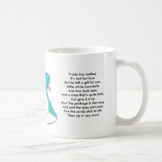 Poema #2 de la sopa del muñeco de nieve taza de café