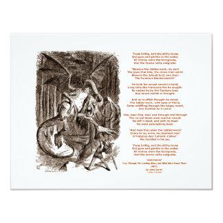 Poema de Jabberwocky de Lewis Carroll Invitación