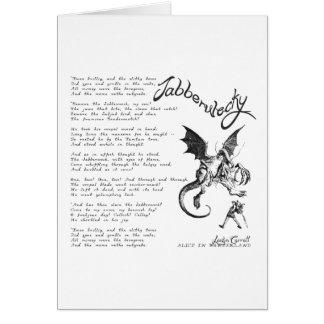 Poema de Jabberwocky Tarjeton