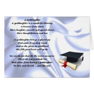 Poema de la ahijada de la graduación tarjeta de felicitación