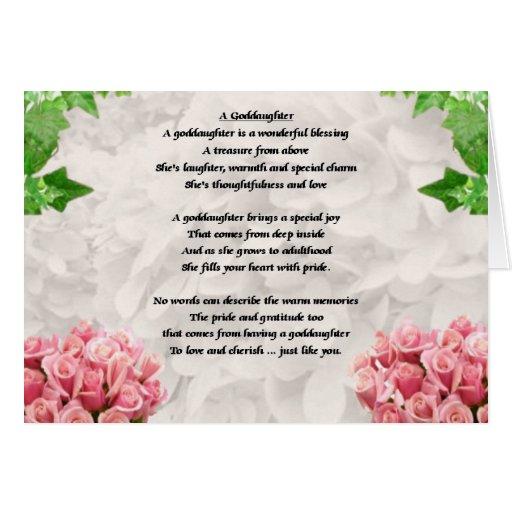 Poema de la ahijada de las flores tarjeta