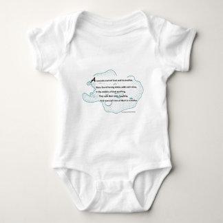 Poema de la ameba body para bebé