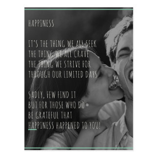 Poema de la felicidad/postal de la cita postal