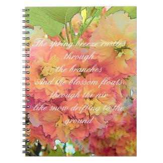 Poema de la flor de cerezo cuaderno