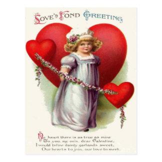 Poema de la guirnalda de las flores de los postal