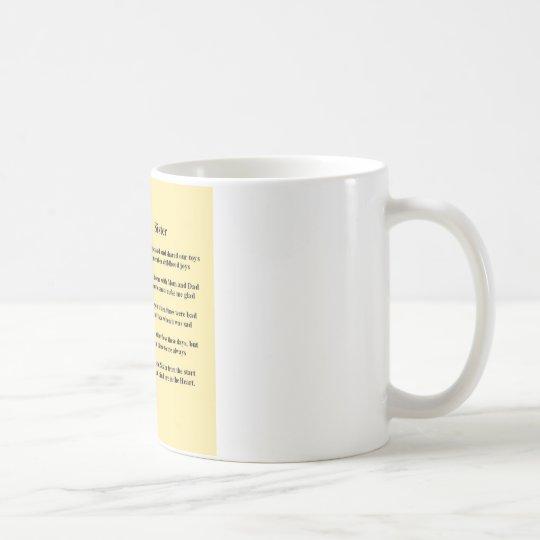 Poema de la hermana - perro de pastor alemán taza de café