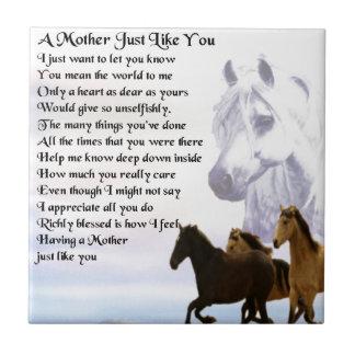 Poema de la madre - diseño de los caballos azulejo