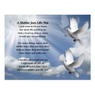 Poema de la madre - palomas postal