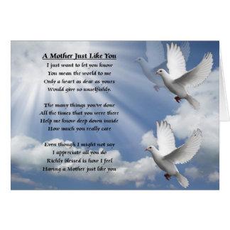 Poema de la madre - palomas tarjeta de felicitación
