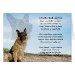 Poema de la madre - perro de pastor alemán felicitacion