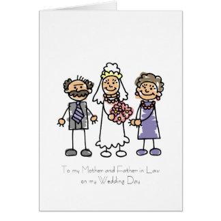 Poema de la madre y del suegro tarjeta de felicitación