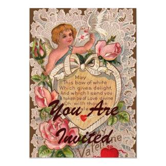 Poema de la tarjeta del día de San Valentín con el Invitación 12,7 X 17,8 Cm