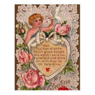 Poema de la tarjeta del día de San Valentín con el Postal