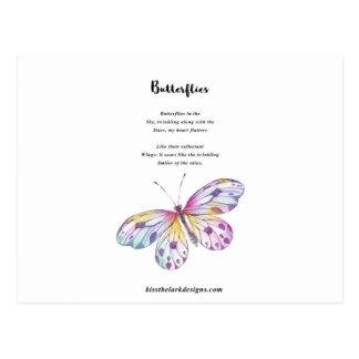 Poema de las mariposas postal
