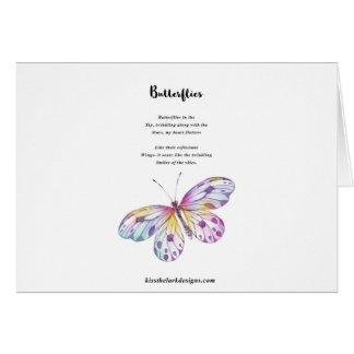 Poema de las mariposas tarjeta de felicitación