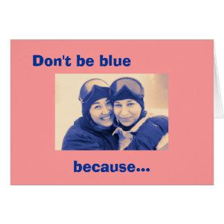 Poema de los azules en rosa tarjeta de felicitación