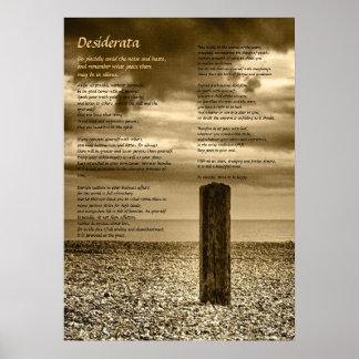 Poema de los desiderátums - bella arte, tengo posters