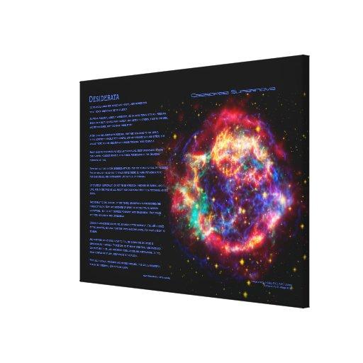 Poema de los desiderátums, Cassiopeia, supernova d Impresiones De Lienzo