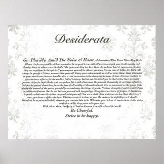 Poema de los desiderátums en el papel pintado anti póster