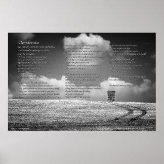 Poema de los desiderátums en Haystack y pistas Posters