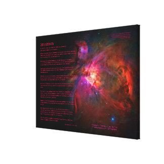 Poema de los desiderátums - estrellas de la nebulo lienzo envuelto para galerias