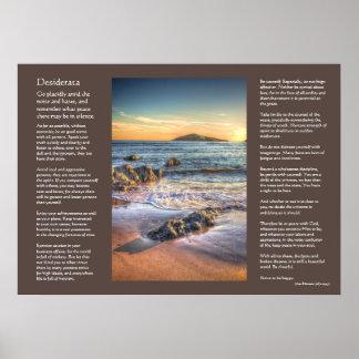 Poema de los desiderátums - isla del municipio posters