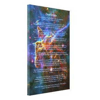 Poema de los desiderátums, montañas místicas - impresión en lienzo estirada