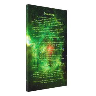Poema de los desiderátums - nebulosa de la guirnal impresiones en lona