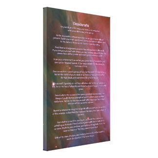 Poema de los desiderátums - pilares del polvo, neb lona envuelta para galerias