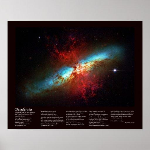 Poema de los desiderátums - una galaxia de Starbur Impresiones