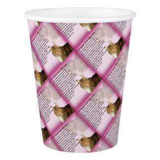 Poema   del amigo de los gatos vaso de papel