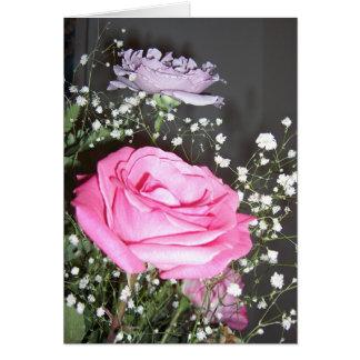 Poema del amor - rosas tarjeta de felicitación