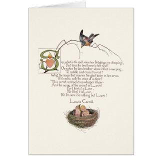 Poema del cuarto de niños de Lewis Carroll Tarjeta De Felicitación
