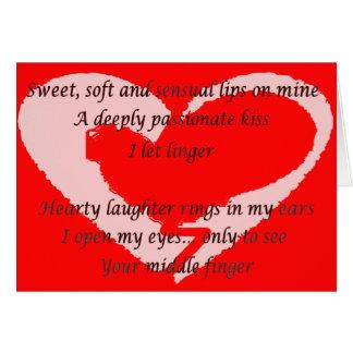 Poema del día de las Anti-Tarjetas del día de San  Tarjeta De Felicitación