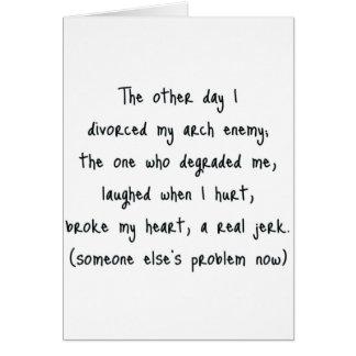 Poema del divorcio tarjeta de felicitación